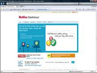 mcafee siteadvisor screenshot